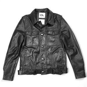 Chapter Moral Form Men's Leather Moto Jacket Sz M